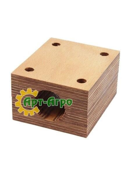 Деревянный подшипник соломотряса комбайна Massey Ferguson - 98х83х53мм